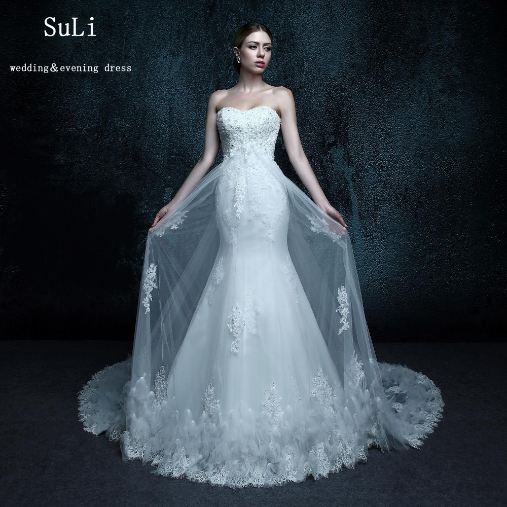 aliexpresscom buy zxb7 mermaid off the should floor length lace up sweetheart pearls feathers wedding dress from reliable feather wedding dress suppliers