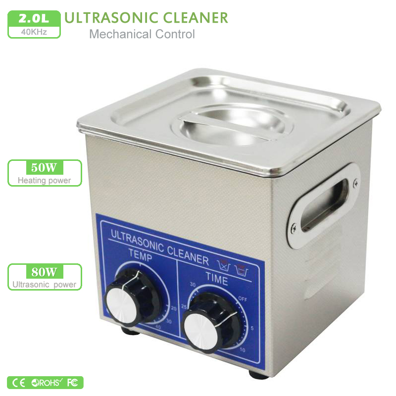 PS 10 2L Ultrasonic Cleaner 80W Free basket clean glasses Gold silver Ornaments Watches dentures toothbrush