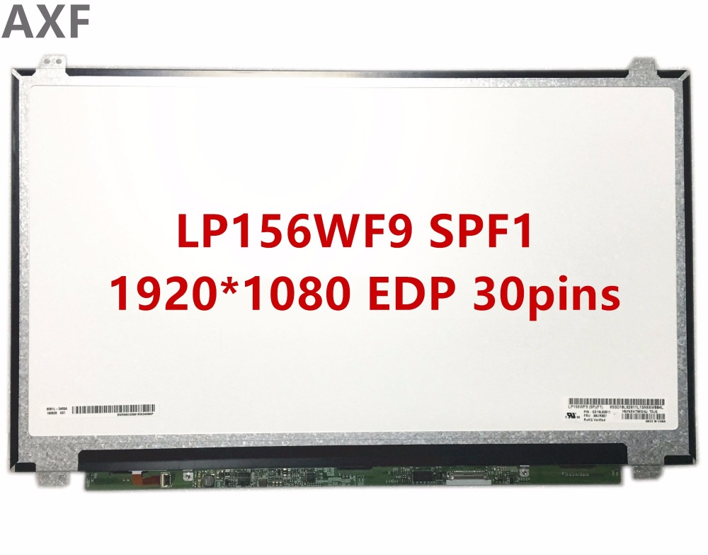 Free Shipping LP156WF9 SPF1 15.6 inch 30pins EDP 1920*1080 IPS lcd screen with FRU: 00UR887 free shipping originalnew 9 inch lcd screen cable number fvi900c001 50a