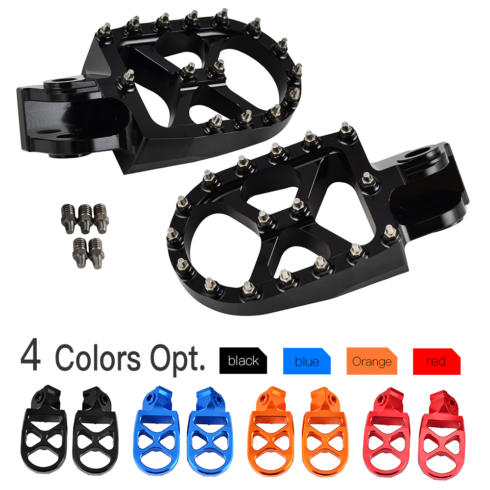 NICECNC Footrest Footpeg Foot Pegs Pedal For KTM 690 950 990 1050 1090 1190 1290 Super Enduro Adventure R S T 2017 SMC Supermoto for ktm 990 smt supermoto super duke 1090 1190 1290 adventure r swingarm spools slider stand screws m10 motorcycle cnc aluminum