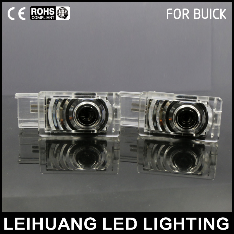 1pair Car Led Ghost Shadow Projector Lamps With Logo Fit For Buick Regal Welcome Lamps Welcome Lights Emblem Door