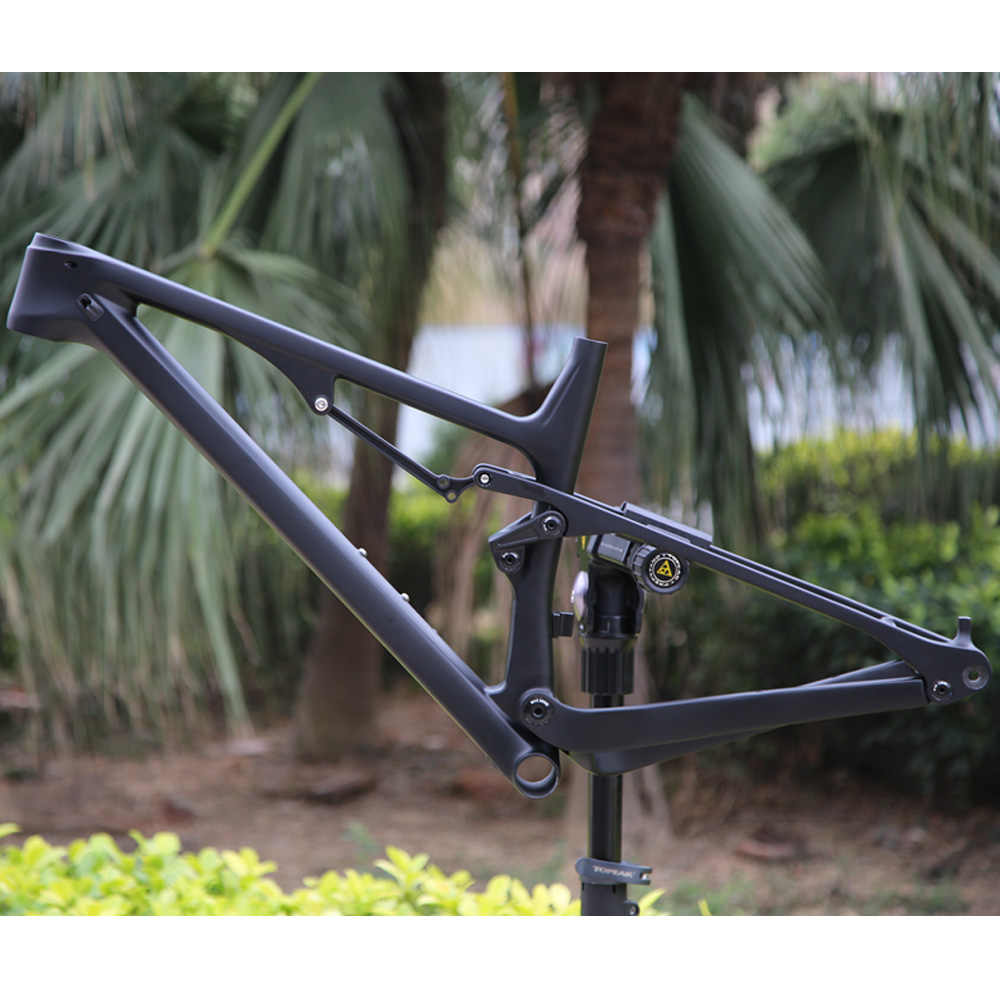FREE SHIPPING 2019  SGS tested Full Suspension T800 Carbon MTB frame XC Cross Country Mountain bike carbon frame with BB92