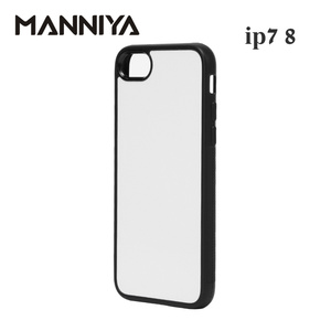 Image 3 - MANNIYA 2D Sublimation Blank rubber TPU+PC Case for iphone 7 8 SE 2020 with Aluminum Inserts  Free Shipping! 200pcs/lot