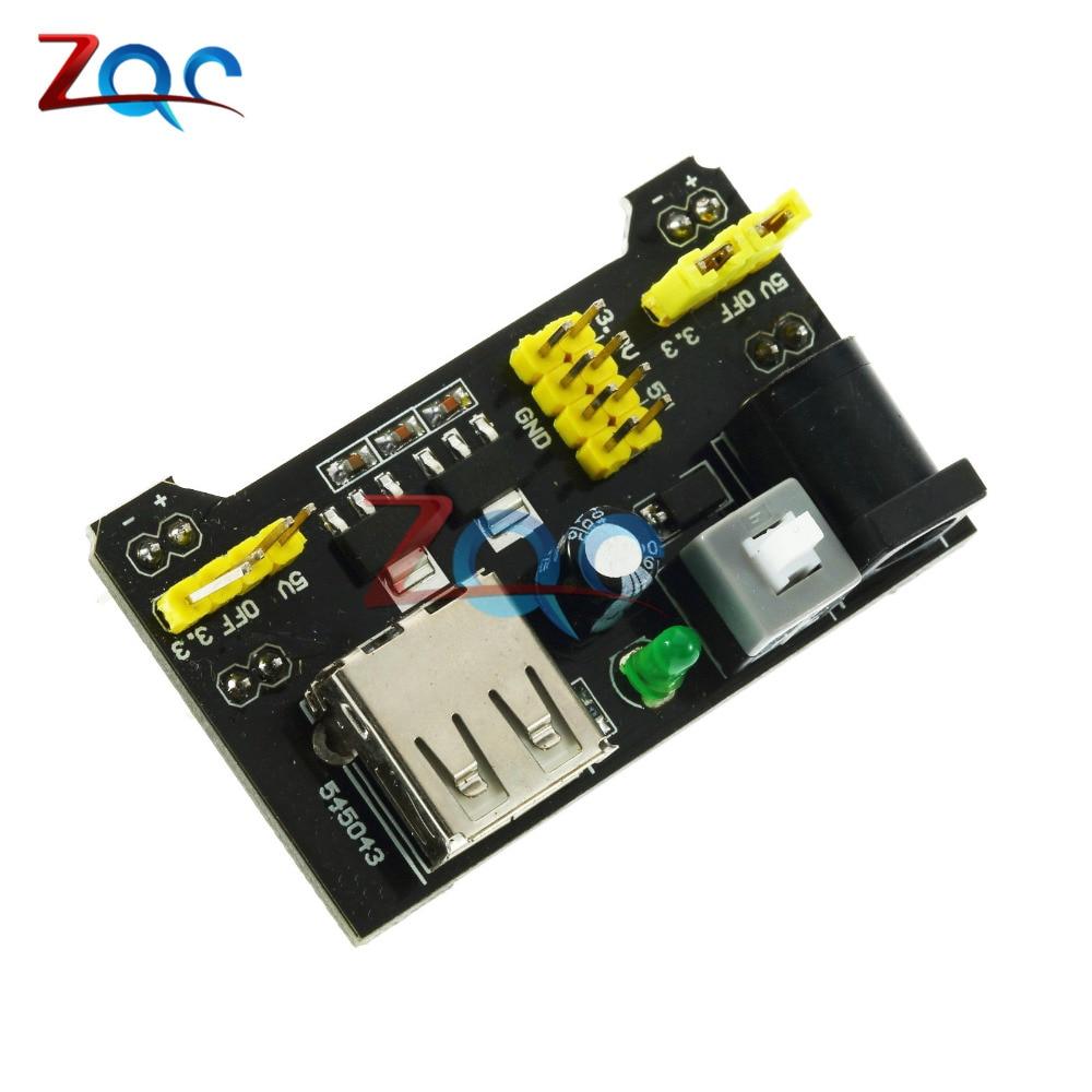 MB102 Breadboard Power Supply Module 3.3V/5V For Arduino Solderless Bread Board msp430 development board microchip msp430f149 program breadboard