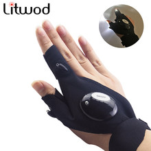 Litwod LED Flashlight Repairing Finger Light Outdoor Fishing Magic Strap Finger Glove Torch Cover Survival Camping Rescue(China)