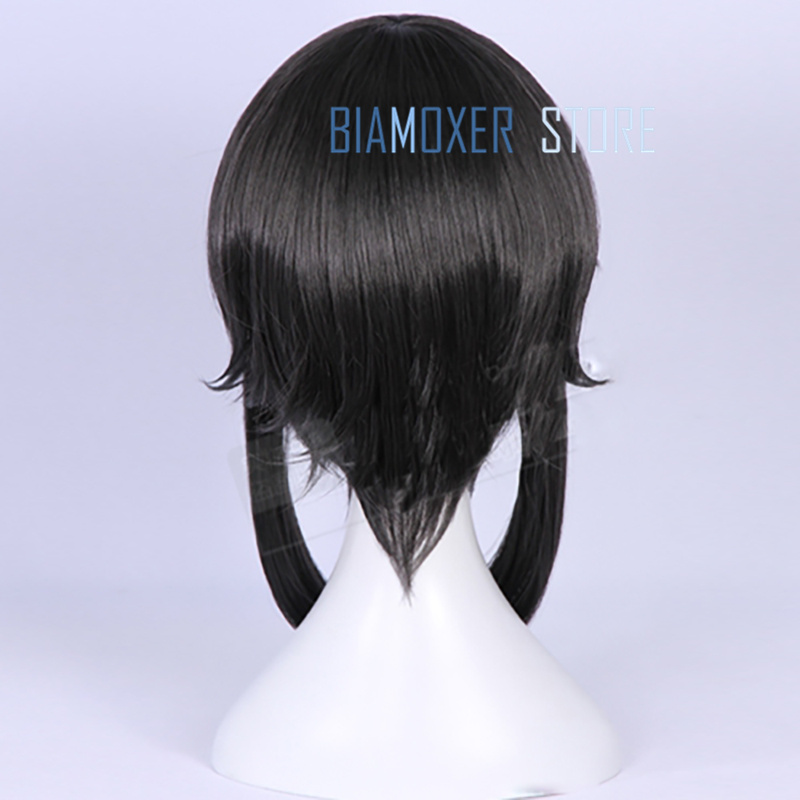 Biamoxer Anime Mahou Shoujo Ore Sakuyo Mikage Cosplay Wigs Short Black Synthetic Hair Perucas Cosplay Costume Full Wig