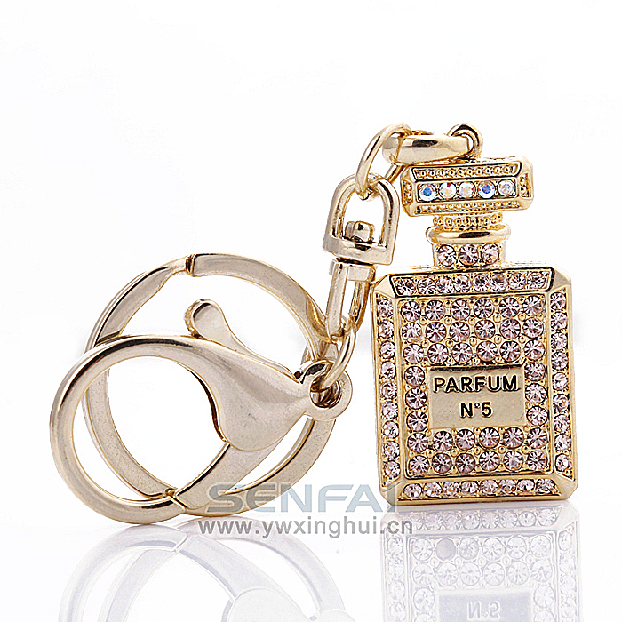 High Quality Fashion Crystal Perfumes and Fragrances for Women Perfume Bottle Keychain Girlfriend Creative Gifts