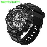 2017 New SANDA Sport Watch Men Diving Clamping Mens Watches Top Brand Luxury Military Clock Saat