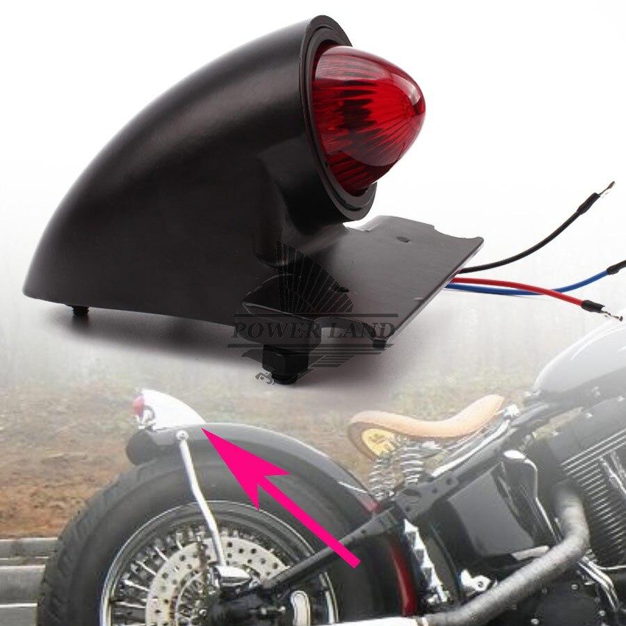 Motorcycle Rear 12V Vintage Style Brake Tail Light For Harley Bobber Chopper