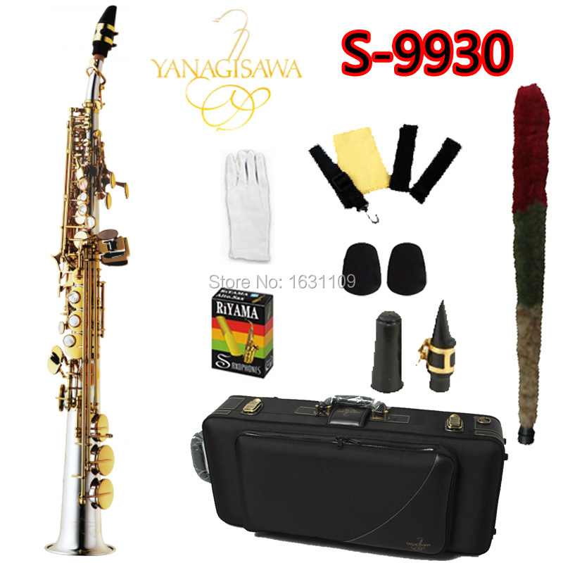 цена  Free Ship YANAGISAWA Soprano Saxophone S-9930 Bb Nickel Plated Gold Key Professional Sax Mouthpiece With Case and Accessories  онлайн в 2017 году