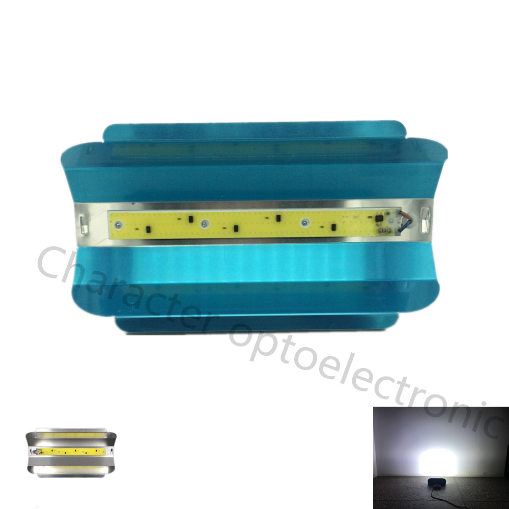 LED COB 220V waterproof and free drive 50W white 6000 6500K lamp for v lighting searchlight plus U reflective trough DIY in Light Beads from Lights Lighting