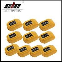 10x Großhandel USB Charging Converter DCB090 Adapter Ladegerät für Dewalt DCB205 204 Batterie