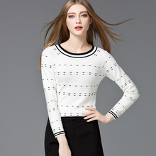 Free Shipping 2016  Women Sweaters And Pullovers In Womens Dresses Autumn Winter Long Sleeve Collision Color