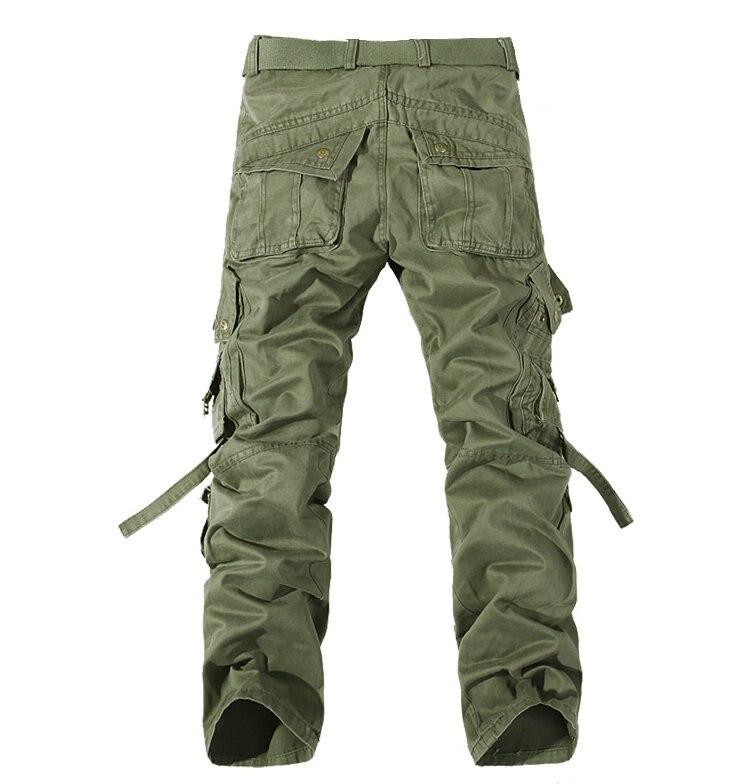 MISNIKI Multi-Pocket Solid Mens Cargo Pants