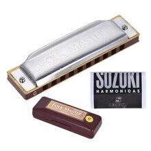 Suzuki 1072-C Folkmaster Standard 10-Hole Diatonic Harmonica Key of C 20 Tone for Beginner Student
