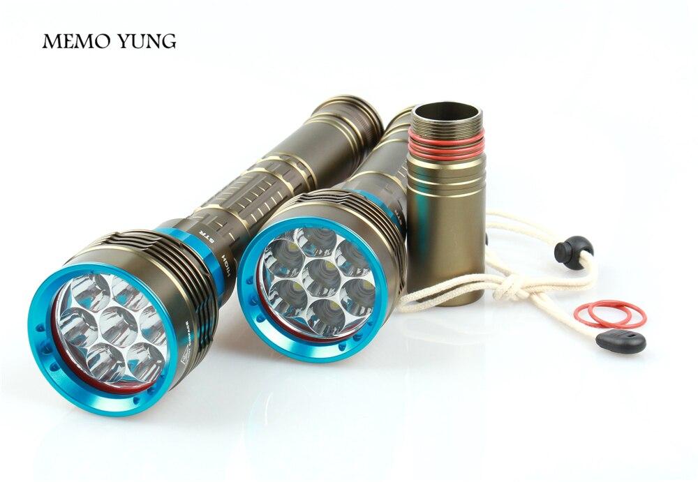 Tauchen Led-taschenlampe 12000 LM XM-7 * T6 Taucher Taschenlampe für 3x18650 oder 26650 batterie Camping wandern beleuchtung