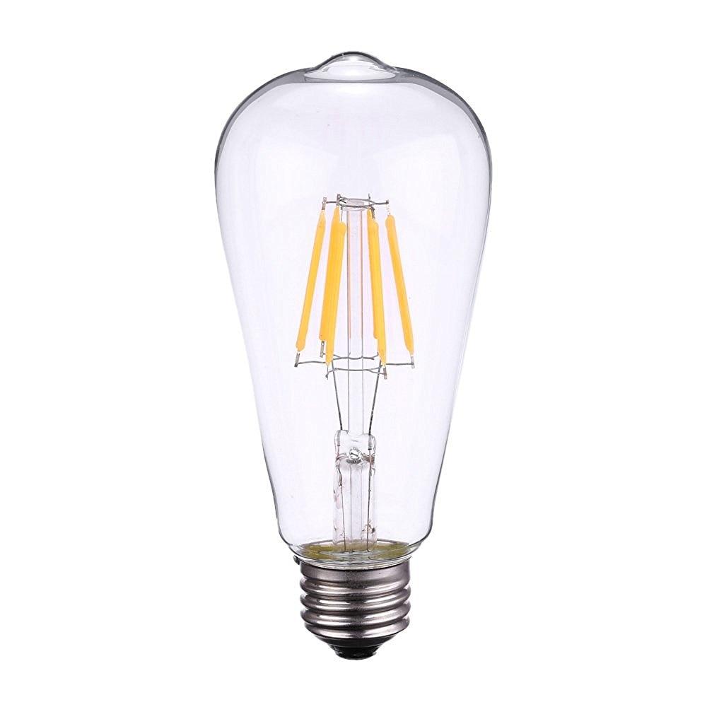 A19 Led Filament Bulb Nostalgic Edison Style 4w To Replace: ELIMLED ST64 2W 4W 6W 8W 2700K LED Filament Light Bulb E27