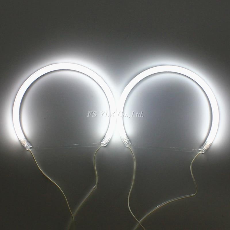 все цены на 131mm outer diameter Semi circle ring Car CCFL LED Halo Ring Headlight for BMW E36 E38 E39 E46 CCFL LED Angel Eyes 131mm Ring