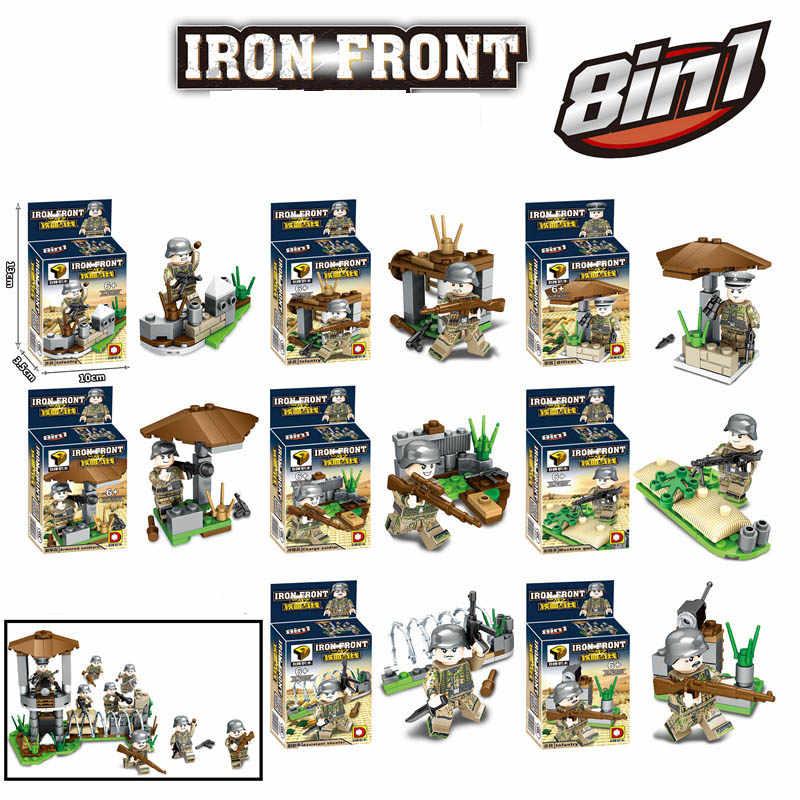 Новый совместимый LegoINGlys военные WW2 Пособия по немецкому языку армия камуфляж цифры строительные блоки Развивающие игрушки для мальчиков Подарки