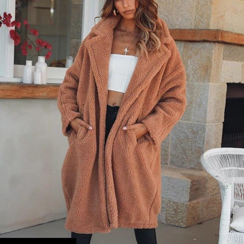 Chaquetas Sintética La Invierno Cordero Camel Piel Mujer De Cwf0169 qpAxUnwqF