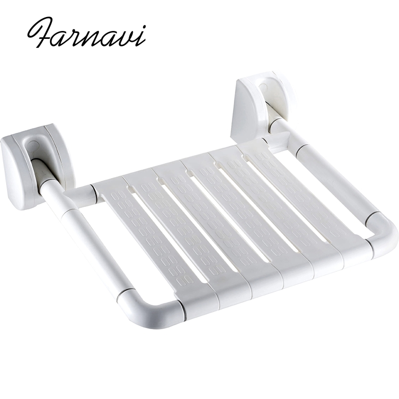 Wall Mounted Folding Shower Seat Relaxation Bath Chair Fold Away Bathroom Bench solid wood folding shower seat spacing saving wall mounted morden seat relaxation folding chair waiting chair wall chair