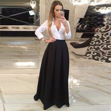 b104206ae5c HZWL Black Satin Formal Women High Waist Floor Length Maxi Long Party Skirts  With. US  29.70   piece Free Shipping