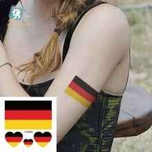 Body Art Waterproof Temporary Tattoos For Men Women Germany Flag Design Flash Tattoo Sticker CC6003