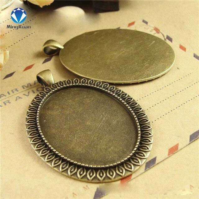 Фото 5 шт/партия металлическая камея в античном стиле диаметр 30*40 цена