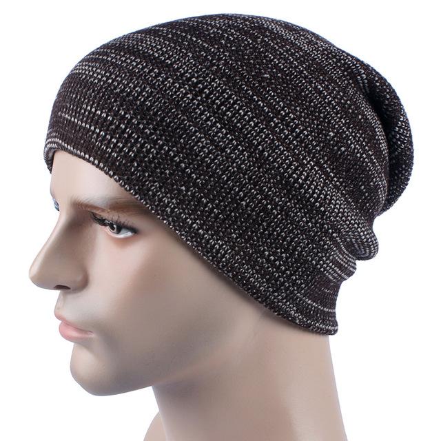 2016 El Nuevo AB línea de Punto de los hombres sombrero de moda de invierno Sólido caliente Gorro de lana de la raya para adultos cabeza de esquí al aire libre cap