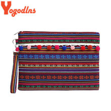 Yogodlns Fashion Geometric Casual Envelope Clutch Purse for Women Tote Small Vintage Handbag Canvas Messenger Bags Lady Gifts(China)