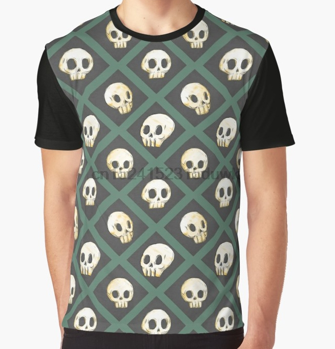 Men's Clothing Tops & Tees All Over Print T-shirt Men Funy Tshirt Tiling Skulls 3u002f4 Green Short Sleeve O-neck Graphic Tops Tee Women T Shirt Rich And Magnificent