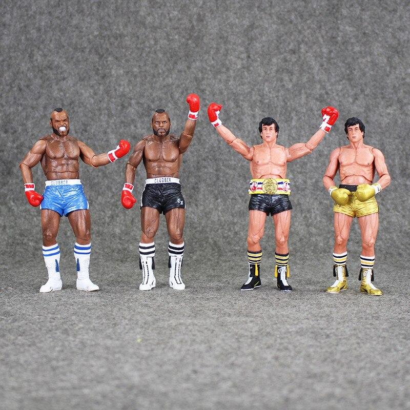 цена на 18cm NECA Rocky III ROCKY BALBOA CLUBBER LANG 40th Anniversary PVC Action Figure Collectible Model Toy