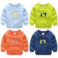 Digital do velo do bebê meninas casaco de novo fundo de outono 2016 roupa do desgaste 17 das crianças gola redonda cabeça conjunto menino do sul