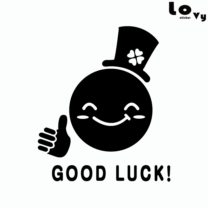 Zhidebao good luck to you home decor ideas cute wall sticker paper toilet bathroom shower waterproofing