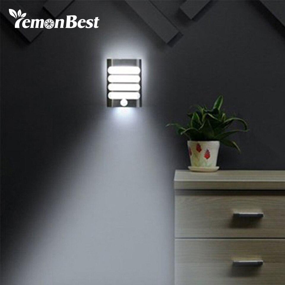 led wireless wall lamp auto onoff bathroom night light with motion sensor night