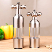 304 stainless steel pepper and salt grinder pepper mills manual grinding bottle mortar grinder