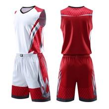 Мужские детские баскетбольные майки, костюм для мальчиков, для колледжа, мужская баскетбольная форма, спортивный комплект, рубашки, шорты, набор, ткань, дышащая, на заказ, с принтом