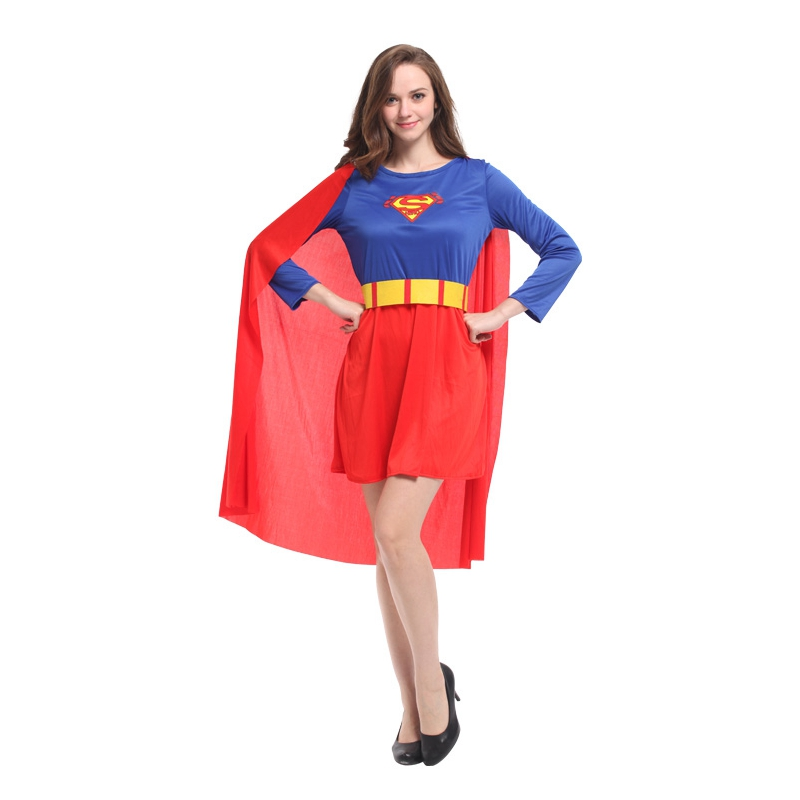 Umorden Pretty Superwoman Super Woman Cosplay Super Man Costume Female Fancy Dress Purim Holiday Party Halloween Costumes