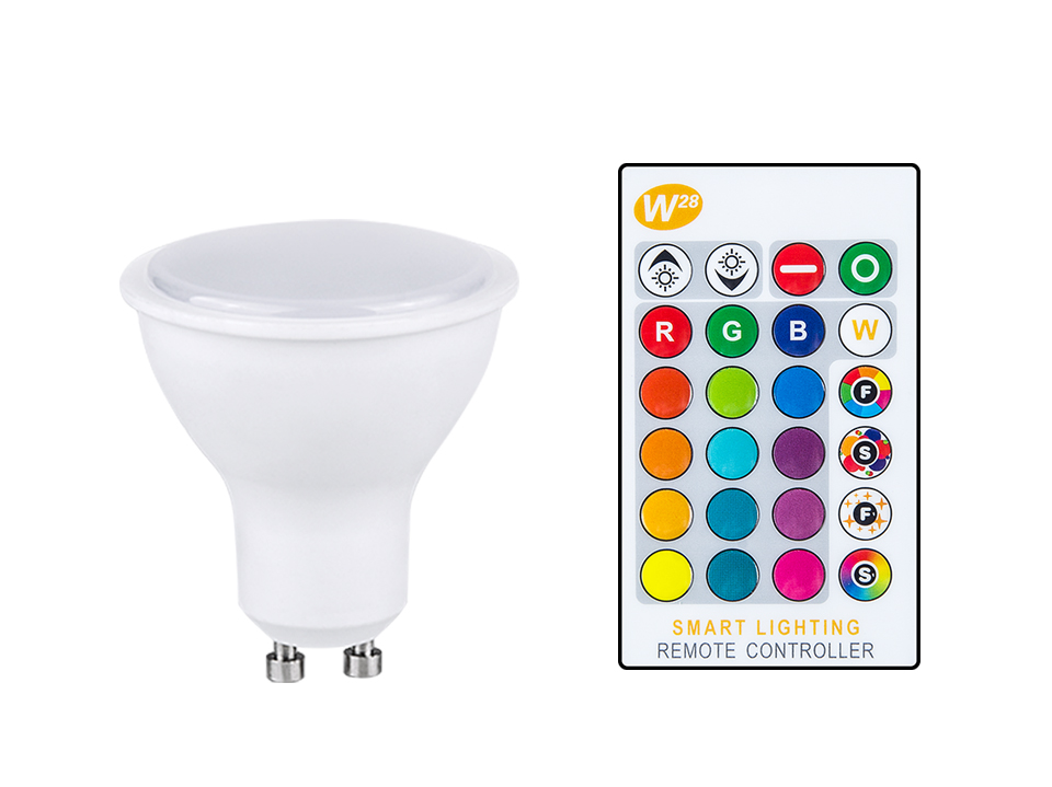 Magic RGB LED Light Bulb GU10 E27 AC85-265V Smart Lighting Lamp Color Change Dimmable With IR Remote Controller 5W 10W 15W Light (16)