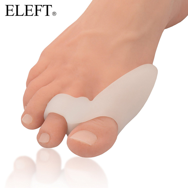 ELEFT 1 pair Bicyclic Hallux Valgus Appliance foot care shoes accessories Orthotic Gel Insoles Orthopedic Silicone Pads Unisex
