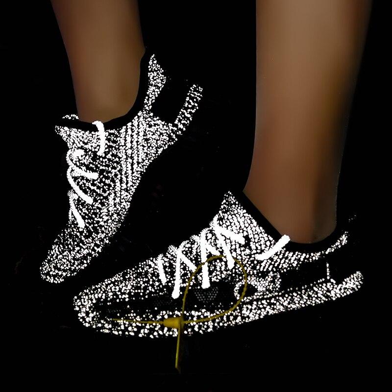 Haute qualité Fluorescence hommes baskets nuit brillant chaussures homme brillant lueur hommes formateurs Designer chaussures amoureux marche pas de boucle