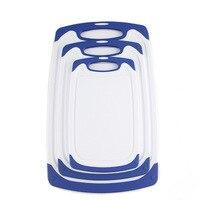커팅 보드 핫 3 플라스틱 커팅 보드 미끄럼 방지 피트와 안티 드립 그루브가있는 식기 세척기에 적합 도마 보드 목재