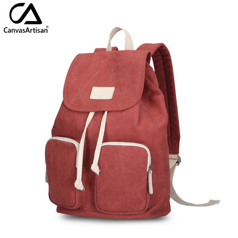 ФОТО Canvasartisan brand new women canvas casual backpack draw string female travle backpacks rucksucks leisure shoulder bags