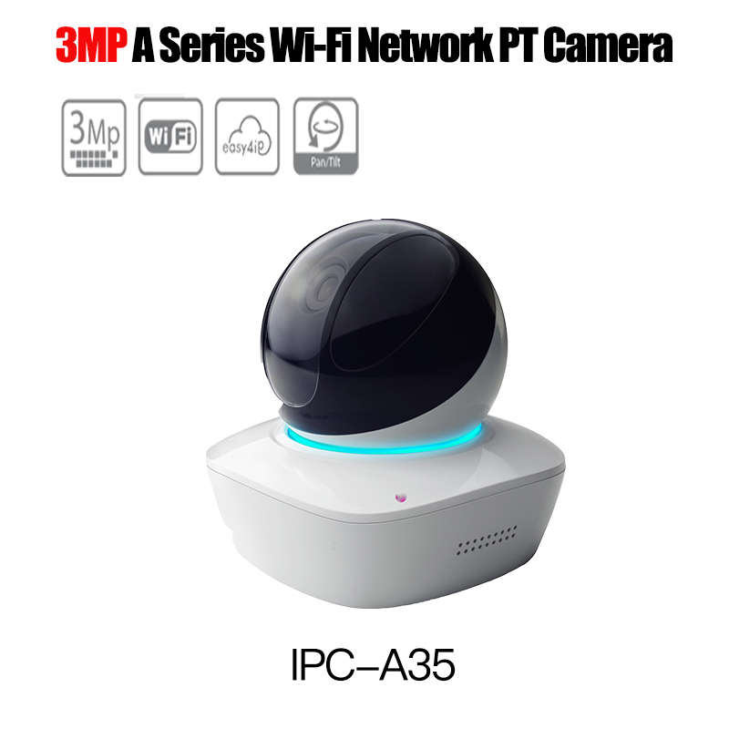 цена на DaHua WiFi PT Camera IPC-A35 3MP Wireless IP Camera Wi-Fi Network PT Camera Built-in mic and Speaker two way audio sd card slot