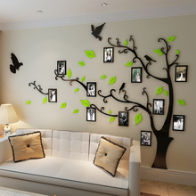 Free shipping Photo frame tree Crystal acrylic three-dimensional wall stickers TV sofa background