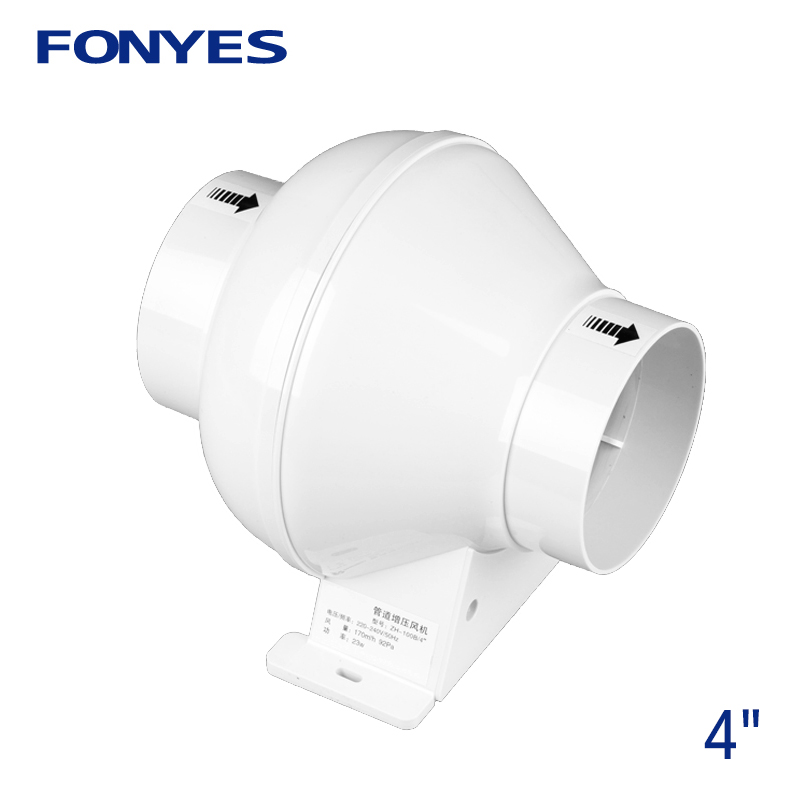 4 inch inline <font><b>duct</b></font> <font><b>fan</b></font> pipe extractor exhaust <font><b>fan</b></font> ducted ventilation turbo <font><b>fan</b></font> mini kitchen ventilator for bathroom <font><b>100mm</b></font> 220V image