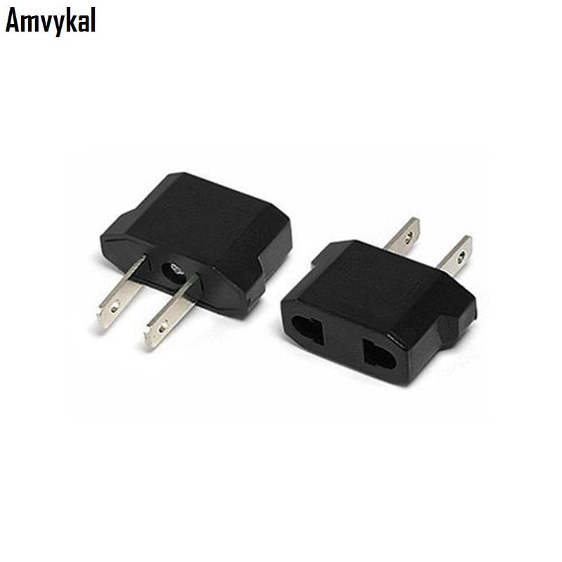 Universal 2 Pins Eu To Us Plug Adapter Converter Usa Travel Ac Power Electrical Plug Adaptador