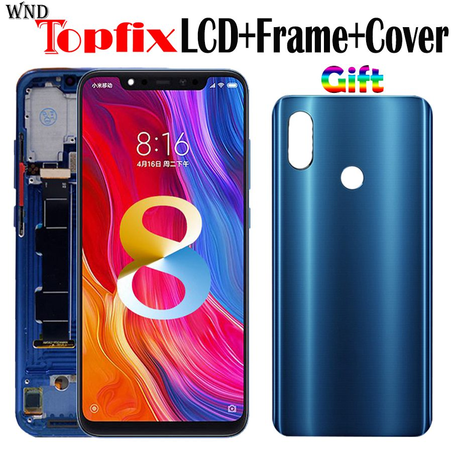 Amoled Screen Xiaomi Mi 8 LCD Display Touch Screen Digitizer Assembly Xiaomi Mi8 LCD With Frame