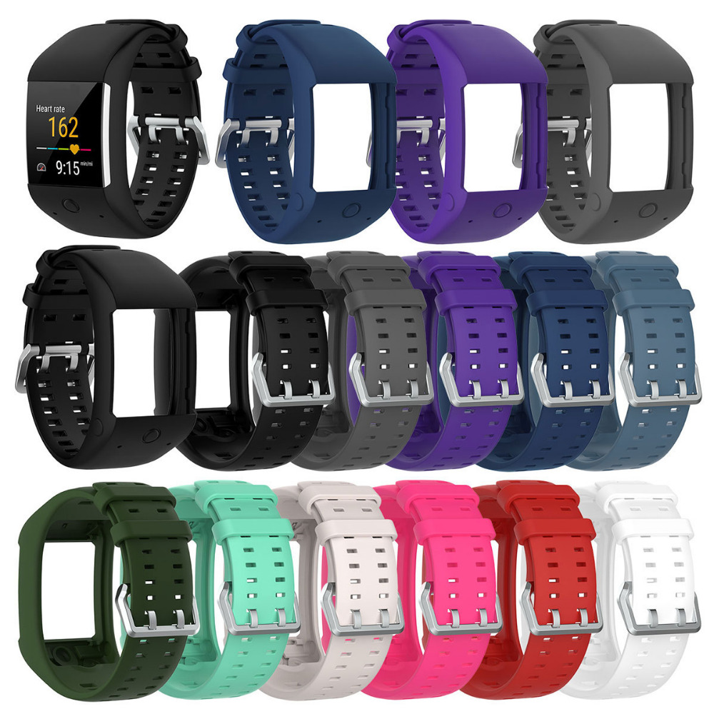 Soft strap Silicon for M600 Replacement Watch Band Sport Wrist Strap Adjustable for Polar M600 Smart Watch fit all size