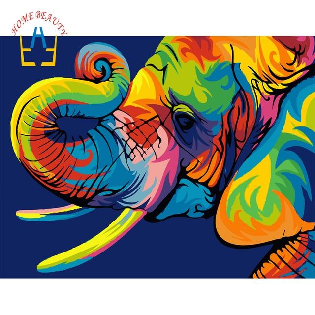 Gajah Dinding Lukisan Gambar Modular Untuk Menggambar Pada Kanvas